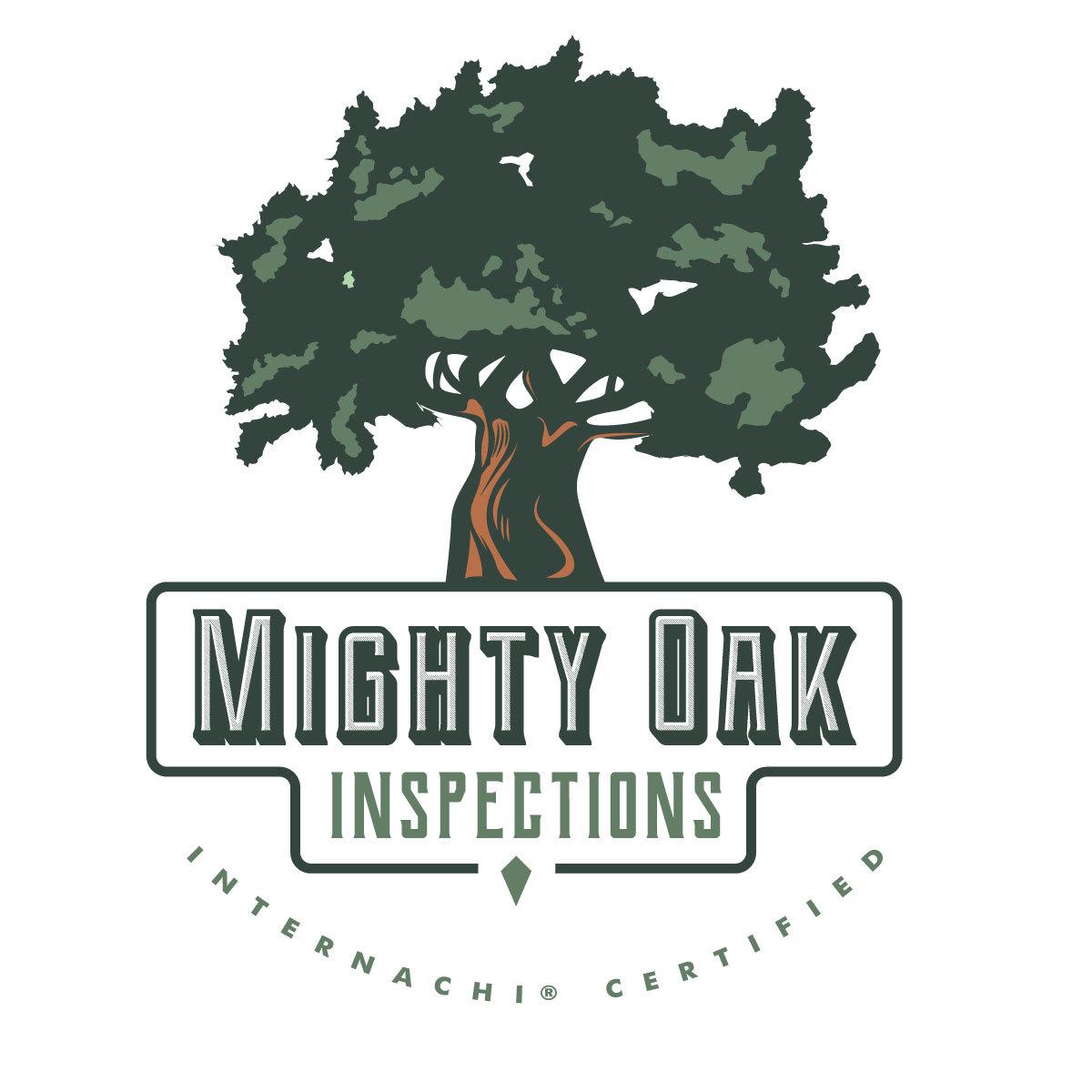 Mighty oak home inspector logo