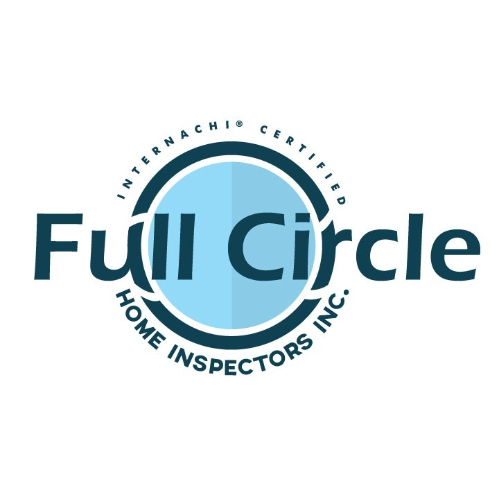 Full circle home inspector logo white %281%29