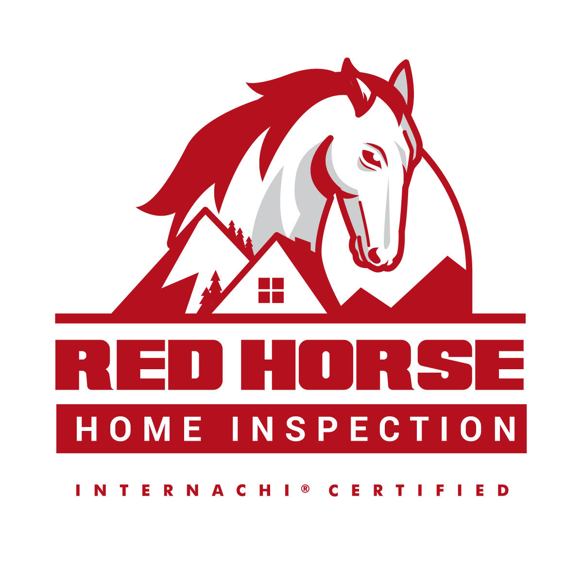 Facebook red horse home inspector  logo