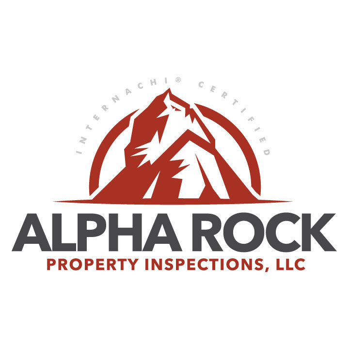 Alpha rock home inspector logo