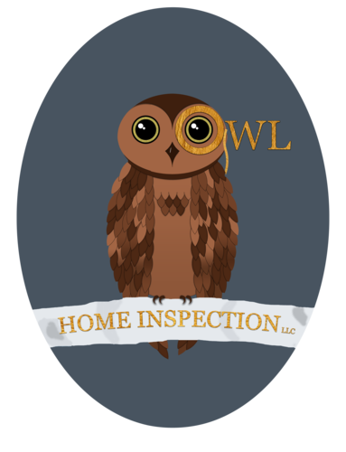 Owl home inspection logo oval