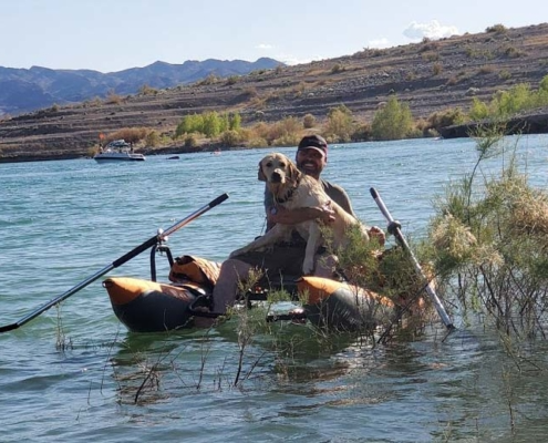 craig and moby fishing Lake Mead